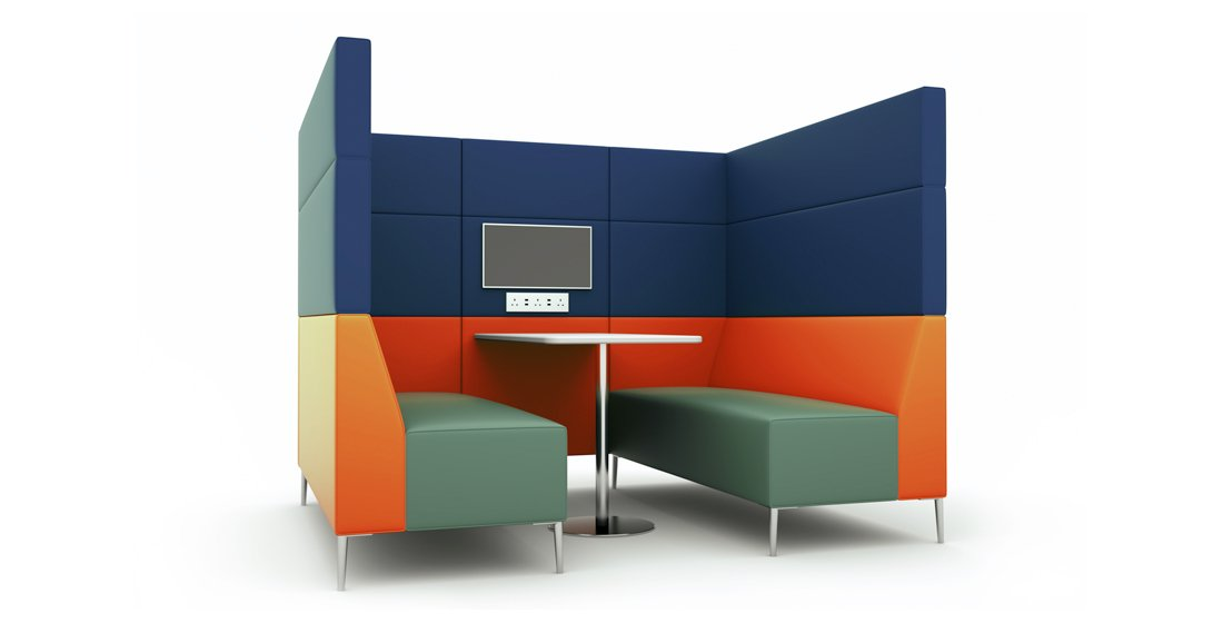 Citrus Seating Frank Seating Booth Office Pod with Screen and Table