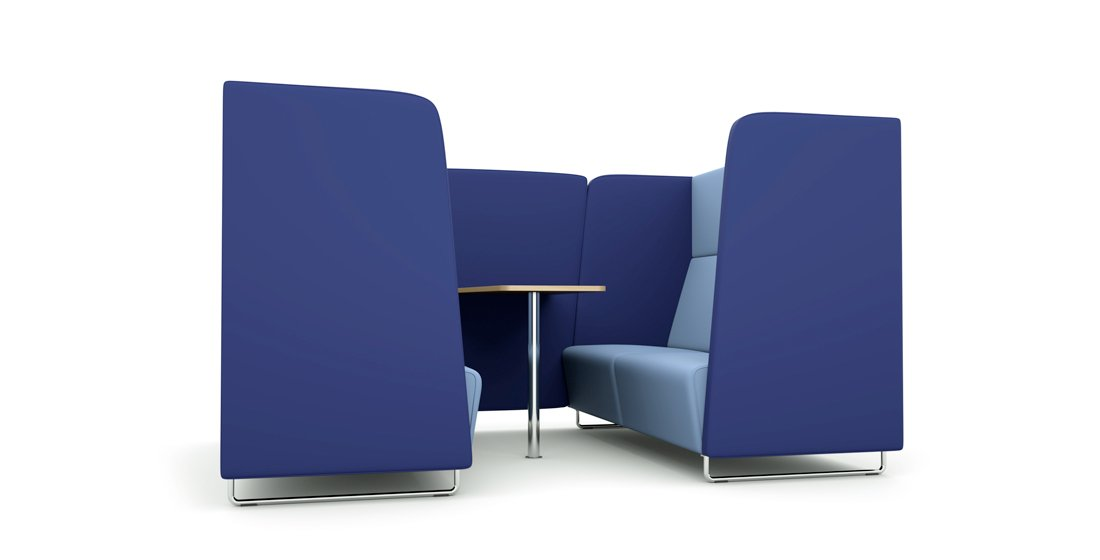 Citrus Seating Hugi office booth and office pod blue