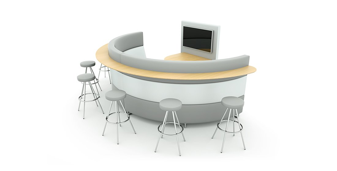 Citrus Seating Hugo Circular Bench Contempary Seating Systems