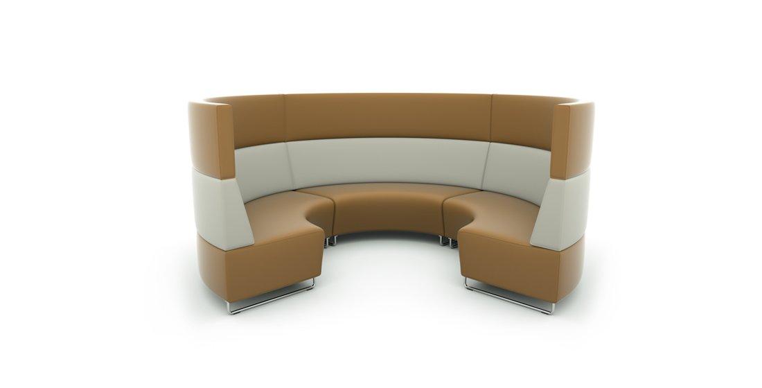 Citrus Seating Hugo Circular Booth Geeting Space Seating