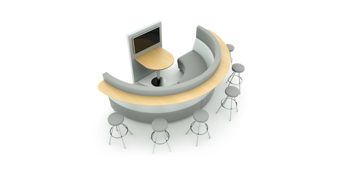 Citrus Seating Hugo Circular Office Booth Seating Solutions