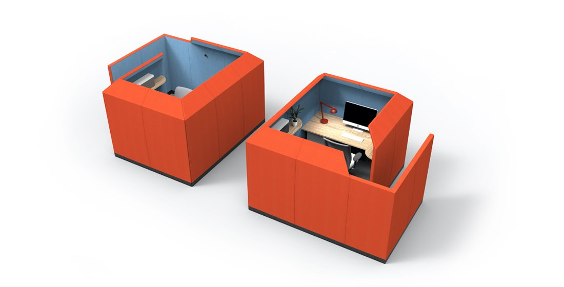 Citrus Seating Luna office pod in orange