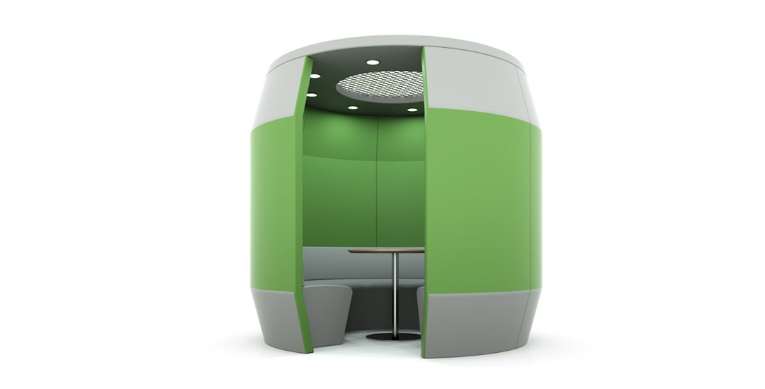 Citrus Seating Ringo office pod workspace green