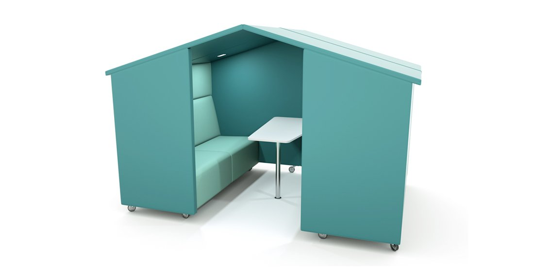 Citrus Seating Rufus Booth with Pitched Roof