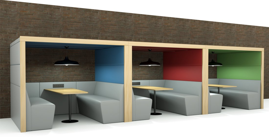 Shelton Soft Seating Office Booths and Pods