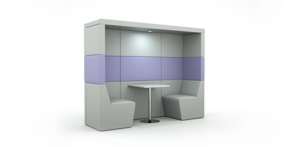 Citrus Seating Shelton 2 Person Seating Office Booth