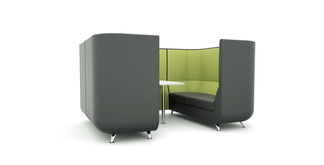 Citrus Seating Unity office booth grey and green