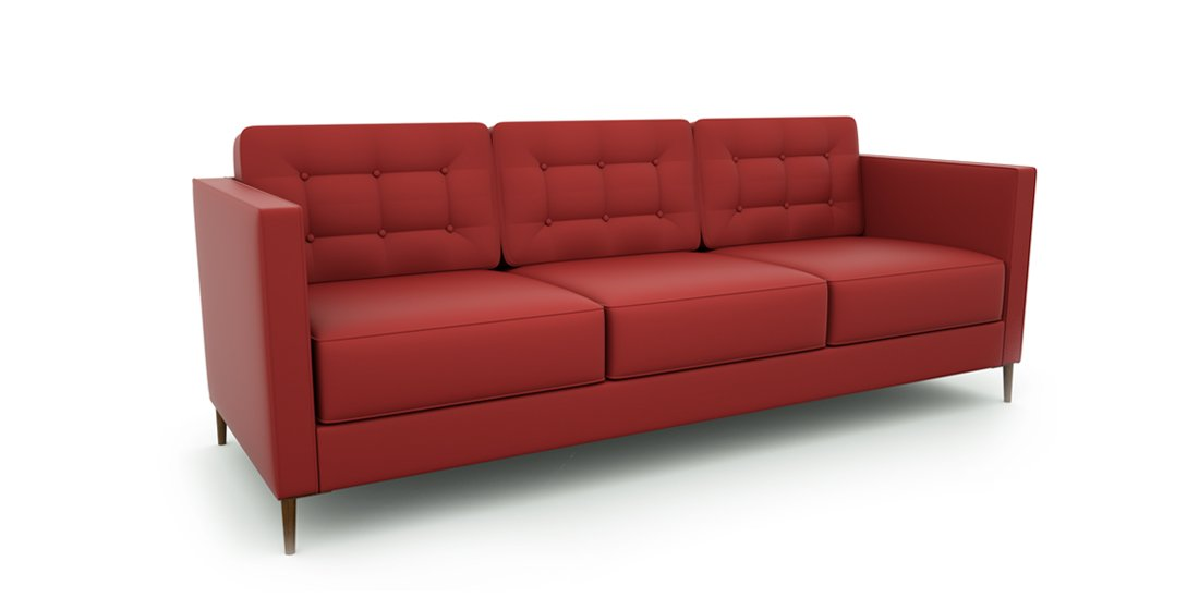 Citrus Seating Bruce three seat sofa with buttoned back cushions