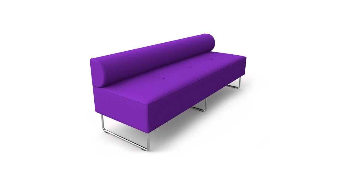 Citrus Seating Constance straight bench with low back