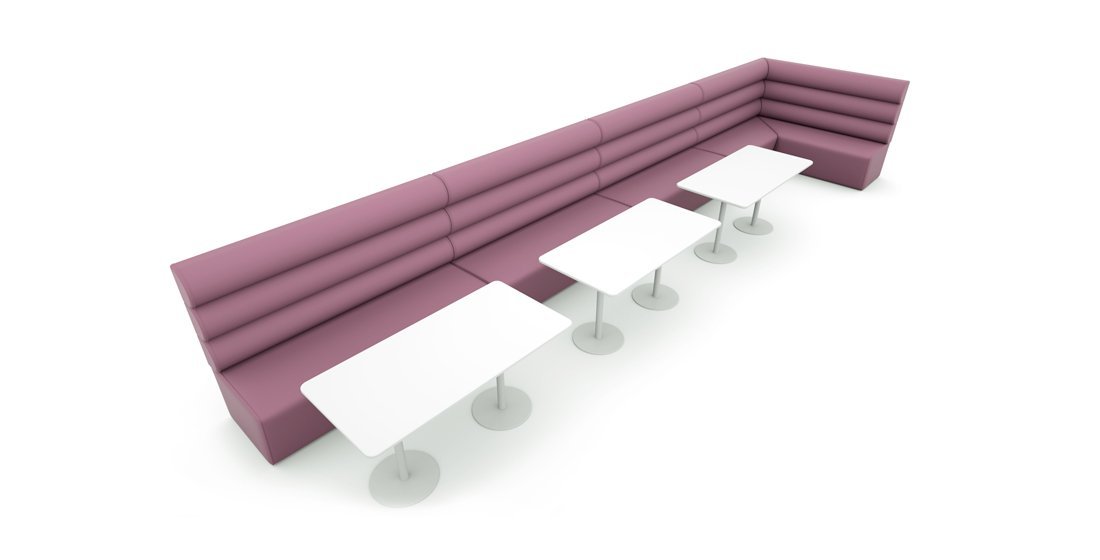 Citrus Seating Constance straight and corner config