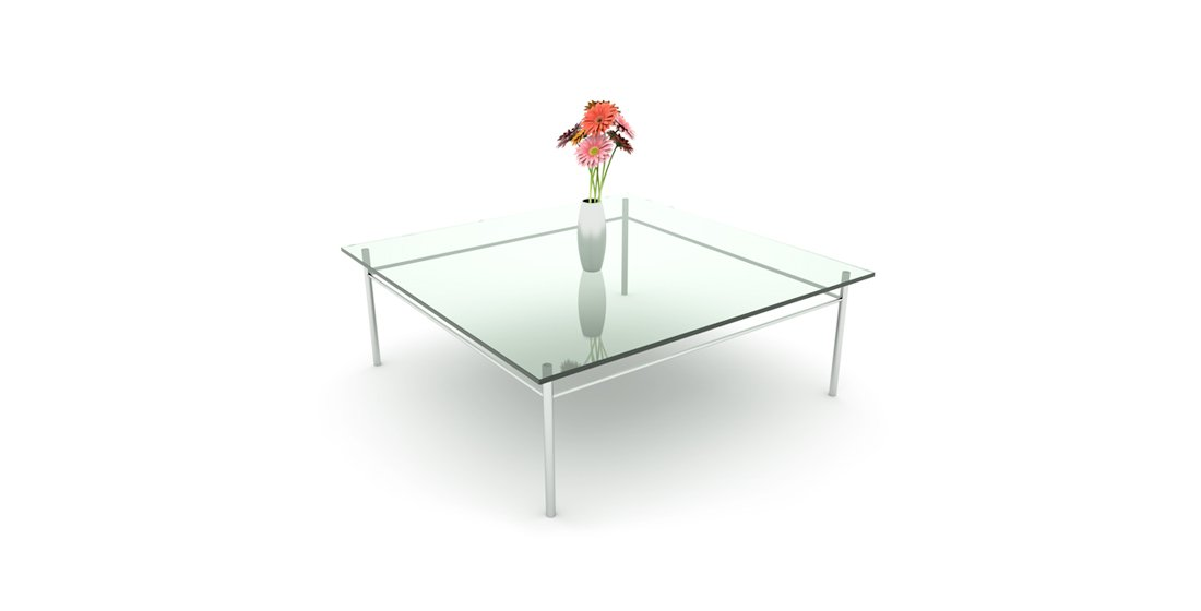 Citrus Seating Crystal Glass Table Office Reception Waiting Room Occassional Table