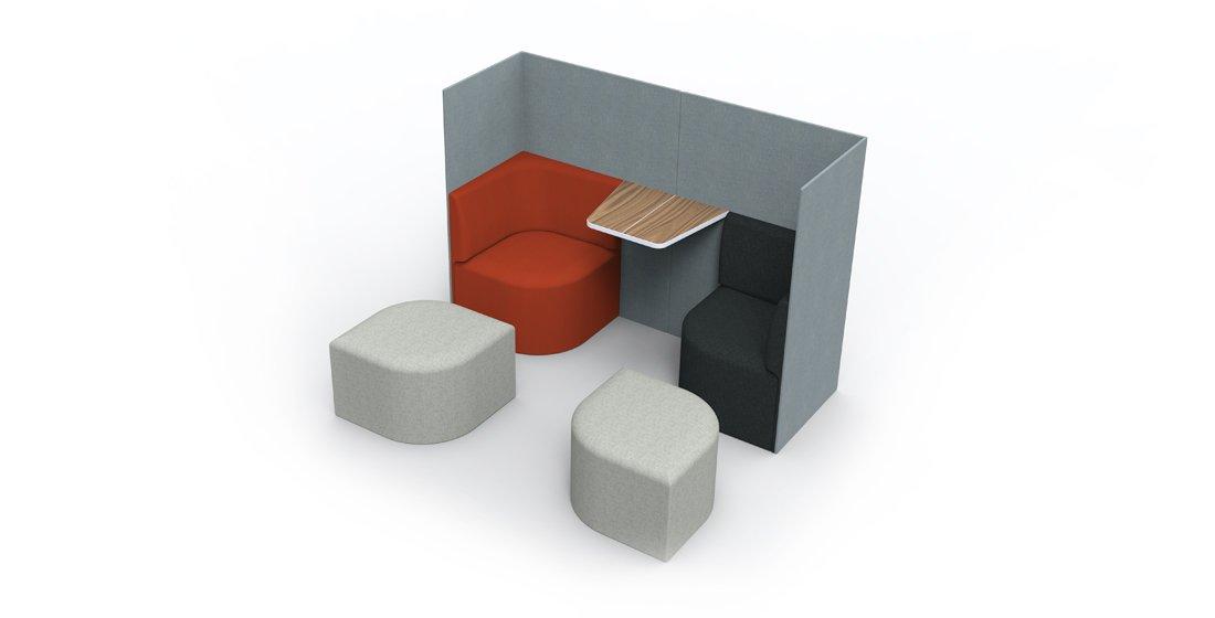 Citrus Seating Iris Corner Booth Office Furniture Soft Seating Work Space