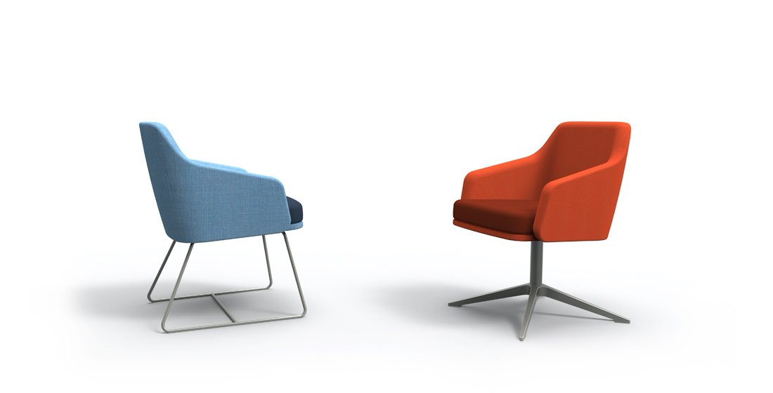 Citrus Seating Office Sled and Swivel Chairs Office Seating