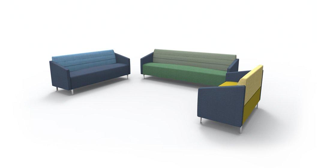 Citrus Seating Linus Bench Sofa Office Seating
