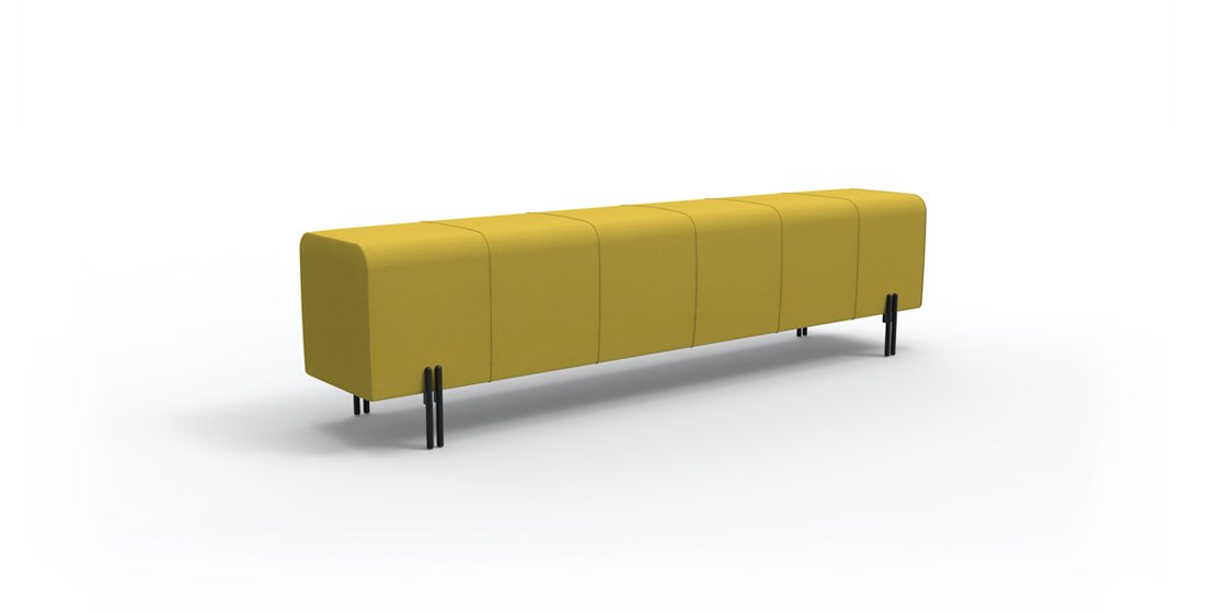Citrus Seating Milo bench in yellow