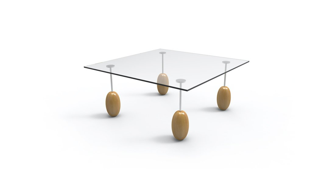 Citrus Seating Olive glass table