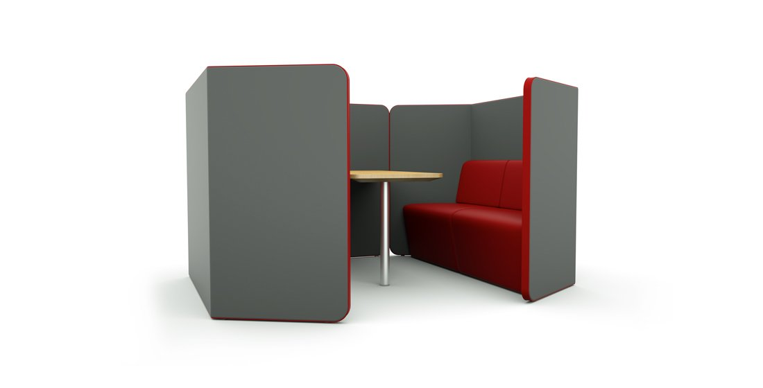 Citrus Seating Peter 4 Person Pod Work Space Office Booth