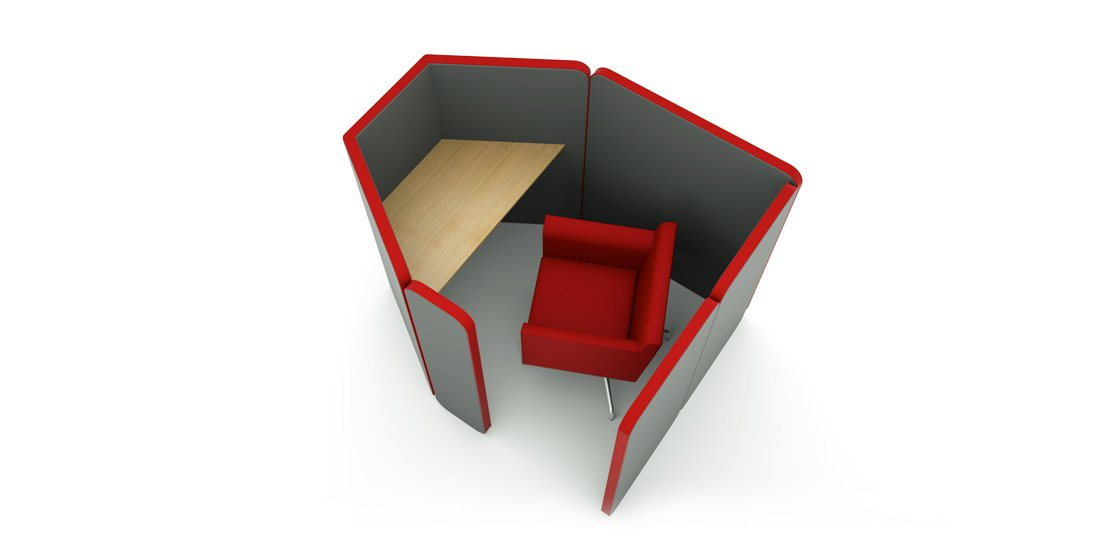 Citrus Seating Peter Single Person Office Pod Booth