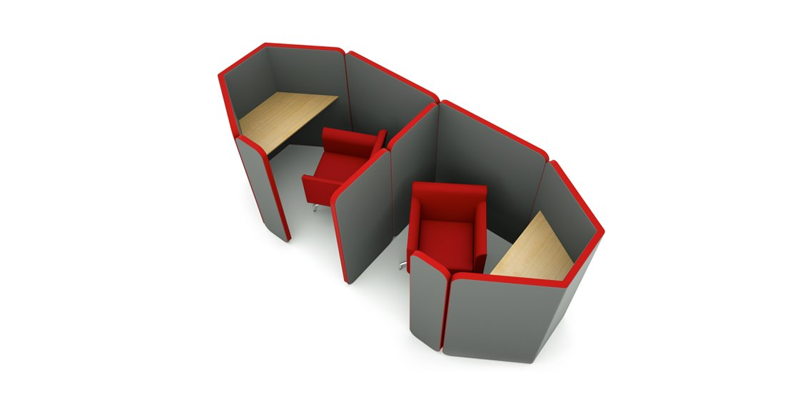 Citrus Seating Peter joined individual working pods