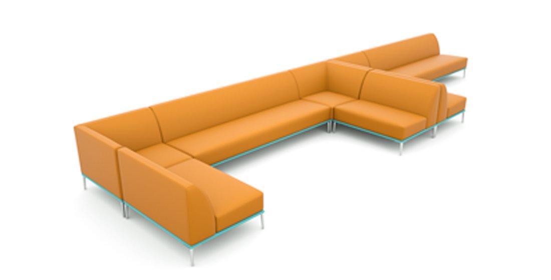 Citrus Seating Sienna Bench Sofa Seating System Reception Furniture