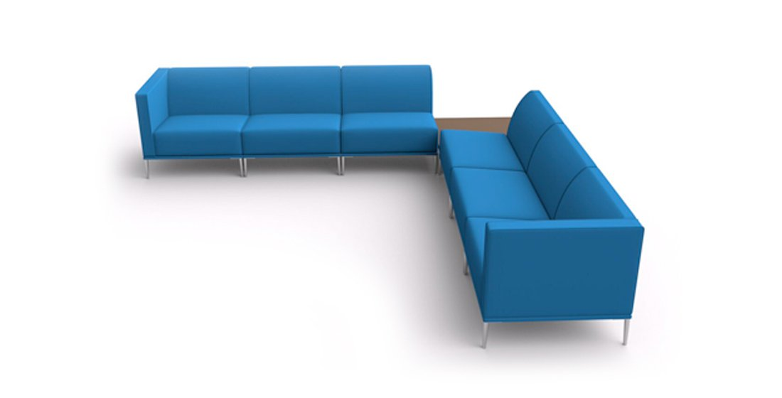 Citrus Seating Sienna Corner Sofa Bench Office Seating with Integral Coffee Table