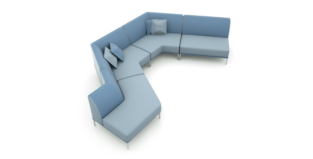 Citrus Seating Sienna Angled Seating System Reception Furniture Office Modular Seating