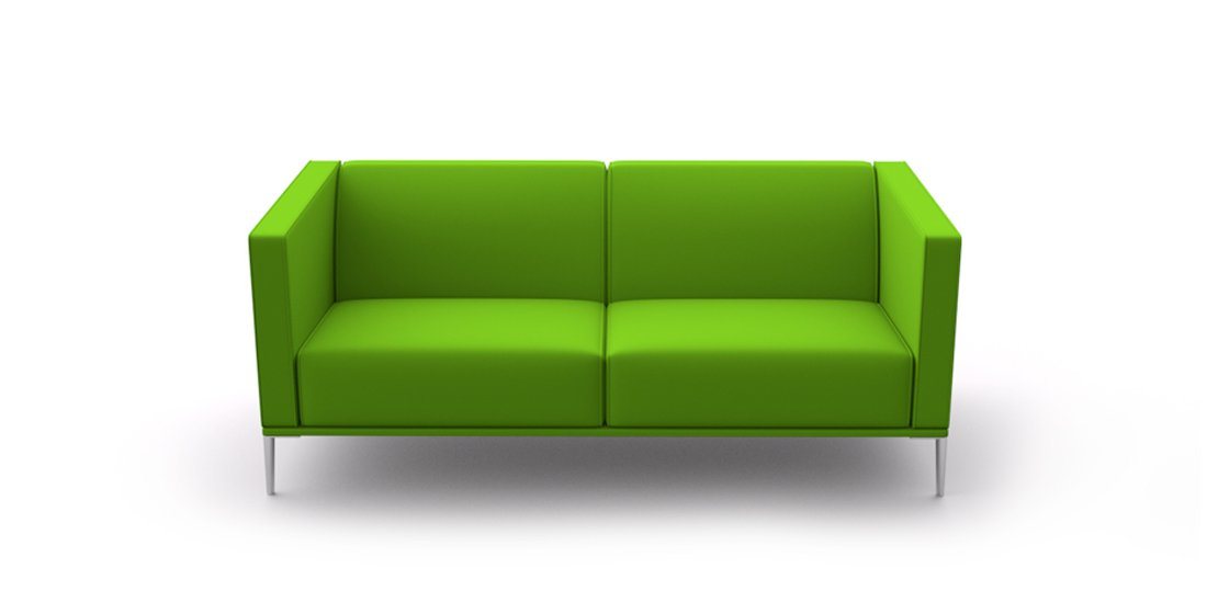 Citrus Seating Sienna two seat sofa green