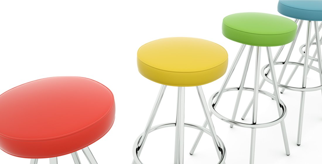 Citrus Seating Simon circular-seat stools
