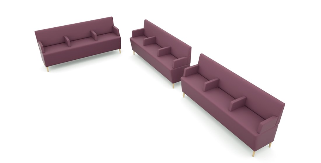 Citrus Seating Suzy bench system with arms