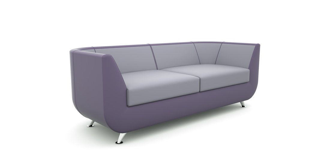 Citrus Seating Unity curved two seat sofa