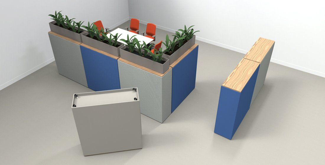 Citrus Seating Wallace wall system - heavy duty castors concealed underneath unit