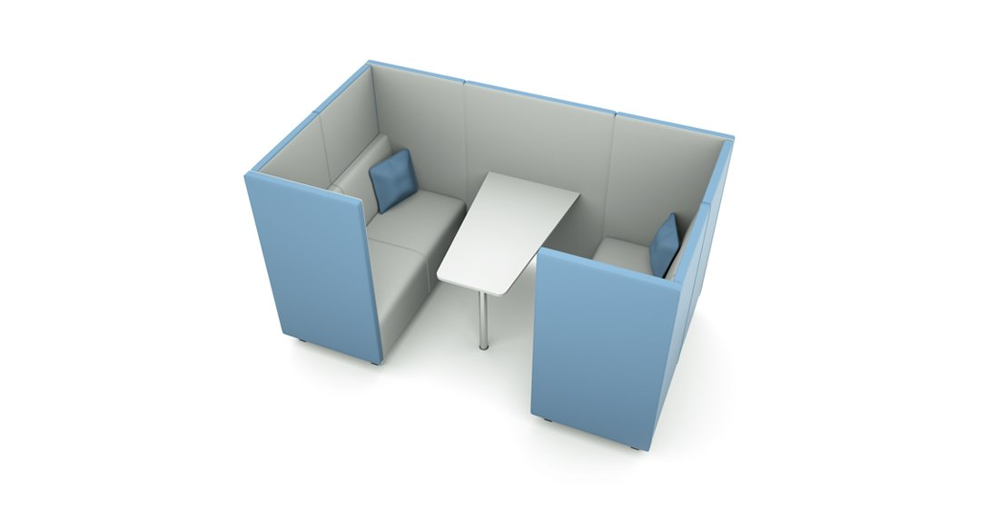 Citrus Seating Daisy office booth with table