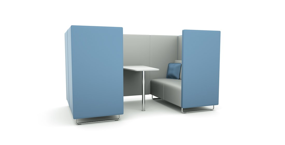 Citrus Seating Daisy Booth Office Workspace with Table