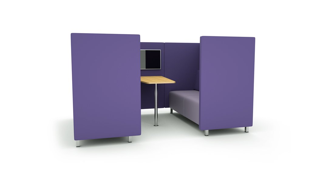 Citrus Seating Daisy Booth with Table Office Seating Systems