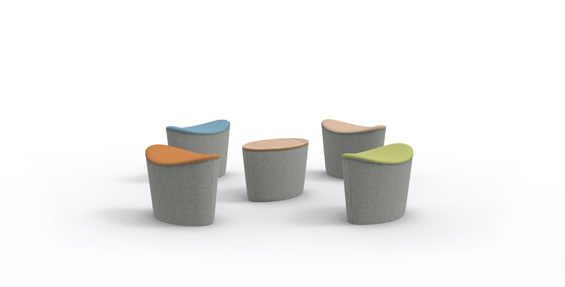 Citrus Seating Ellie Individual Stools Single Office Seating