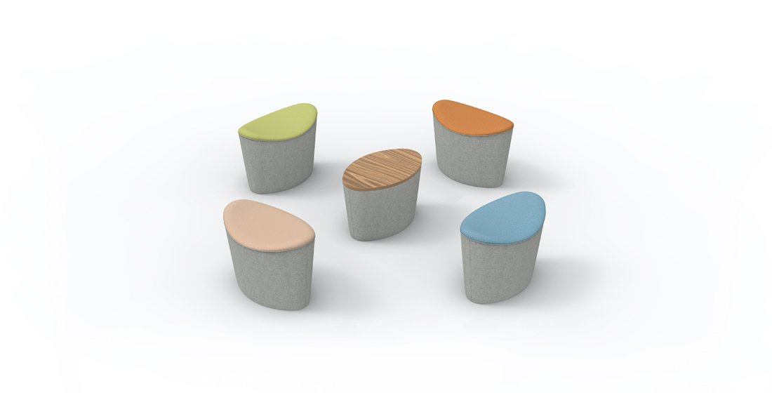 Citrus Seating Ellie Stools Individual Office Soft Seating