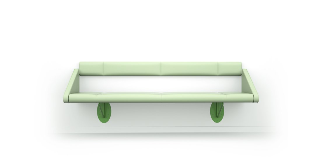 Citrus Seating Flo Seating Bench Wall-Mounted