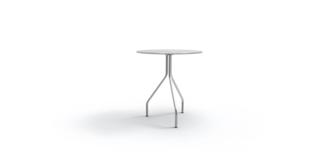 Citrus Seating Jerome 3 legged table with glass top