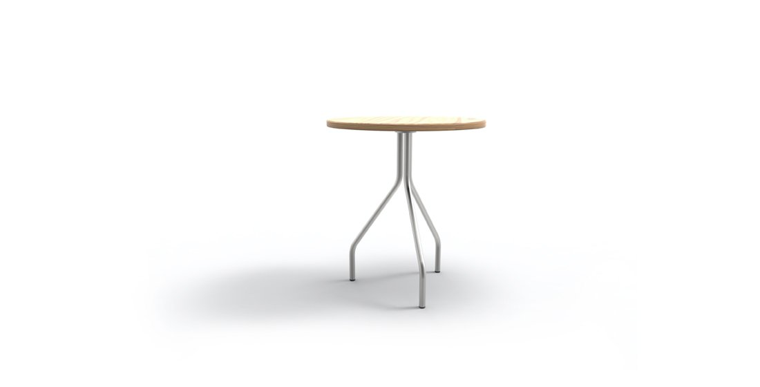 Citrus Seating Jerome 3 legged table with timber top