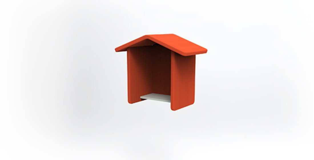 Citrus Seating Phonebooth with Handy Shelf Contempary Office Furniture
