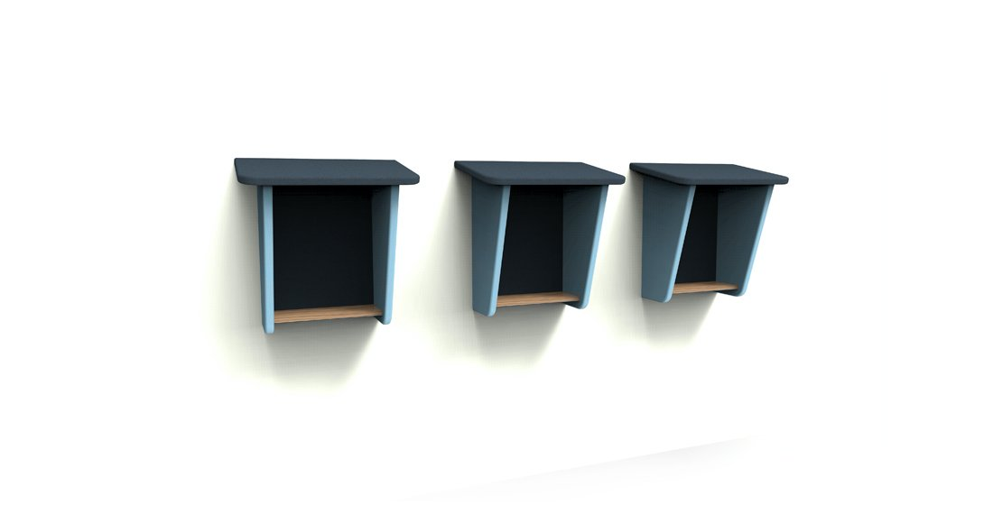 Citrus Seating Small phonebooth with angled sides and roof - plus handy shelf