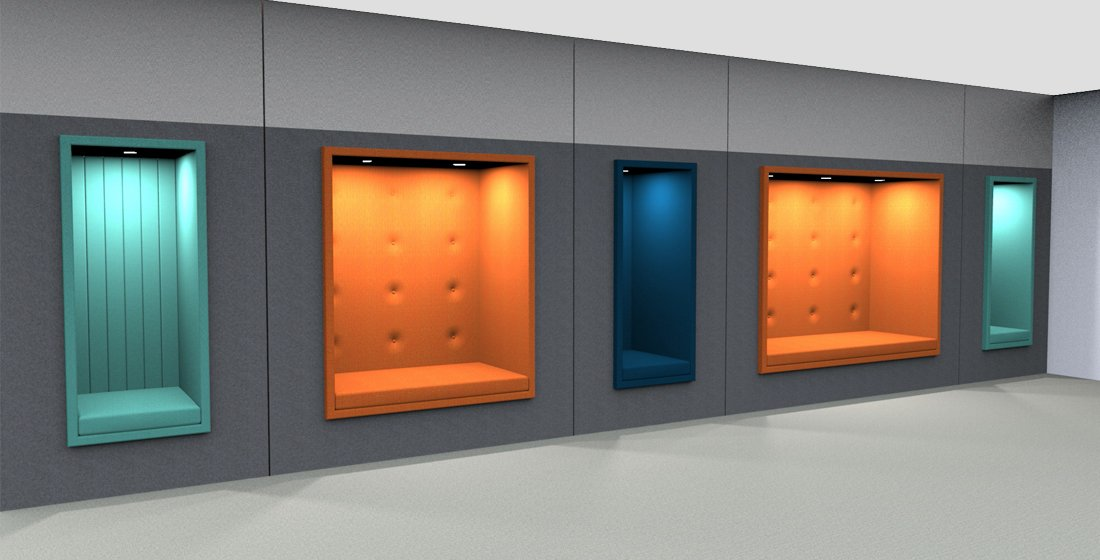 Citrus Seating Inbuilt Wall Seating Contempary Office Seating